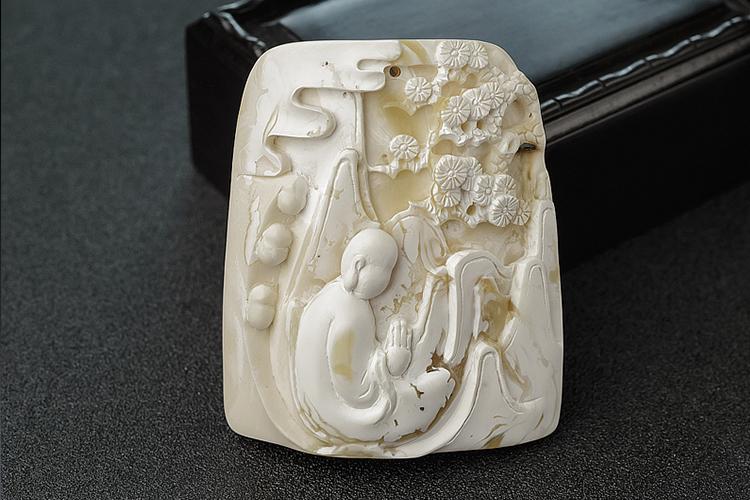 白蜜蜡图片,白蜜蜡雕刻精品欣赏(10)