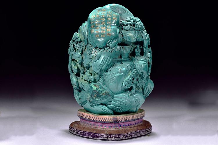 国宝级绿松石雕刻件欣赏,料好,工更美!(7)