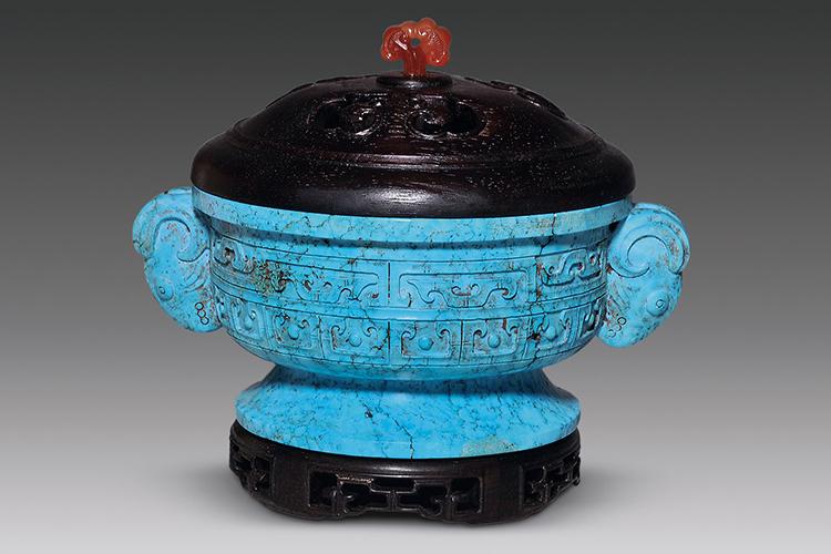 国宝级绿松石雕刻件欣赏,料好,工更美!(5)