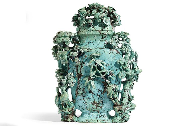 国宝级绿松石雕刻件欣赏,料好,工更美!(6)