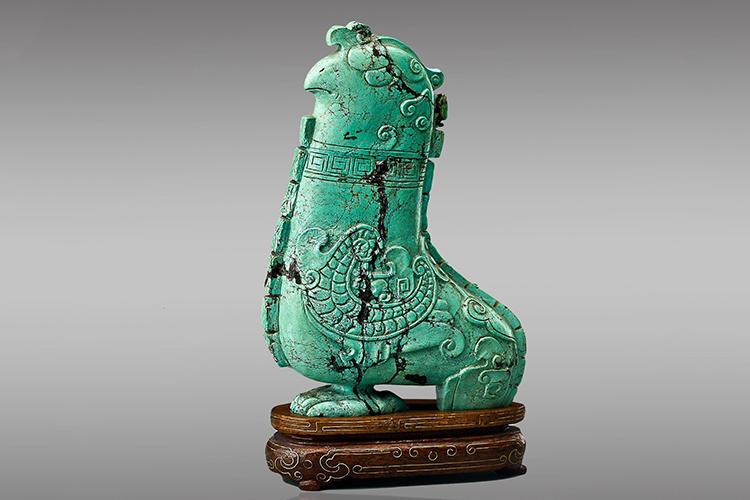 国宝级绿松石雕刻件欣赏,料好,工更美!(4)