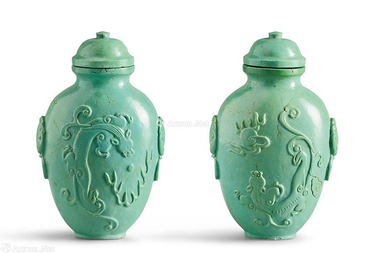 国宝级绿松石雕刻件欣赏,料好,工更美!(3)