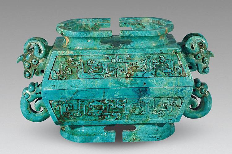 国宝级绿松石雕刻件欣赏,料好,工更美!(9)