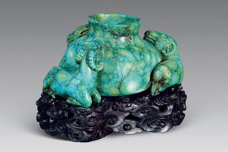 国宝级绿松石雕刻件欣赏,料好,工更美!(10)