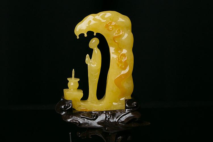 新蜜蜡雕刻精品欣赏,令人眼前一亮