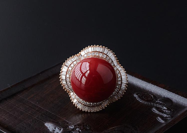 红珊瑚戒指价格-玉雕名家