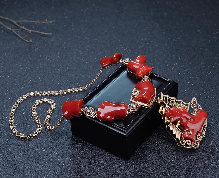红珊瑚项链-玉雕名家