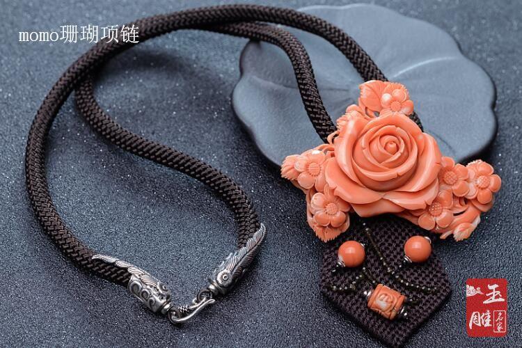 珊瑚项链-玉雕名家