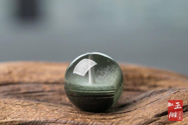 绿幽灵聚宝盆-玉雕名家