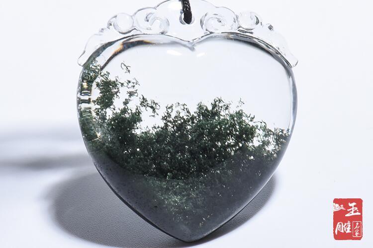 绿幽灵聚宝盆水晶-玉雕名家