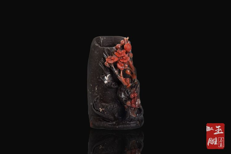南红笔筒-玉雕名家