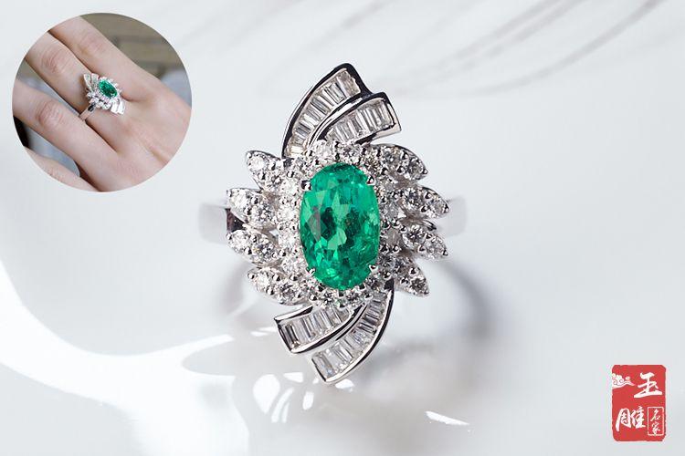 祖母绿宝石戒指-玉雕名家