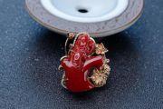 胸针是冬日里最时尚的搭配,红珊瑚胸针欣赏